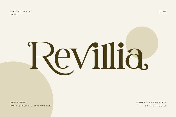 Thumbnail for Revillia-Casual Serif Font