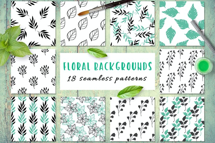 Thumbnail for Floral Seamless Patterns
