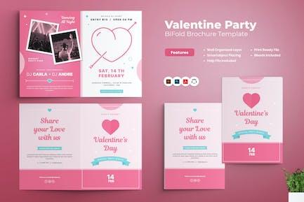 Valentine Day Party Bifold Brochure