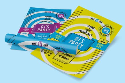 DJ's Party Poster Template