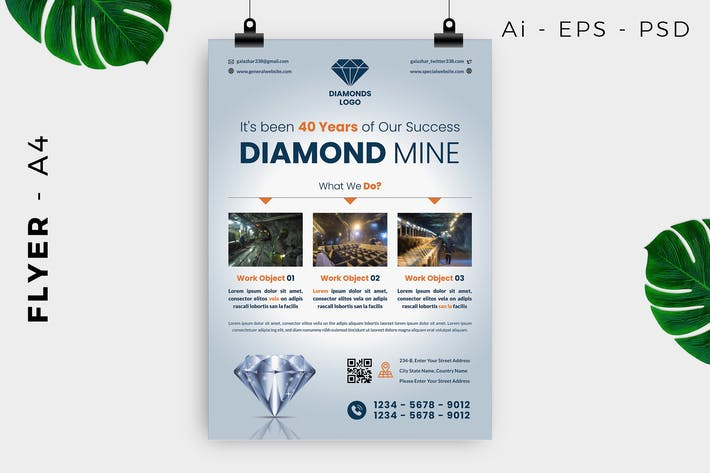 Thumbnail for Diamond / Jewelry / Accessories Flyer Design
