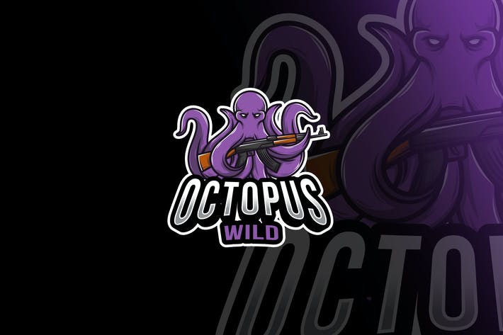 Thumbnail for Octopus Army Esport Logo Template