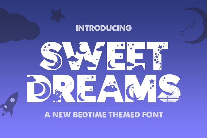 Thumbnail for Sweet Dreams Silhouette Font