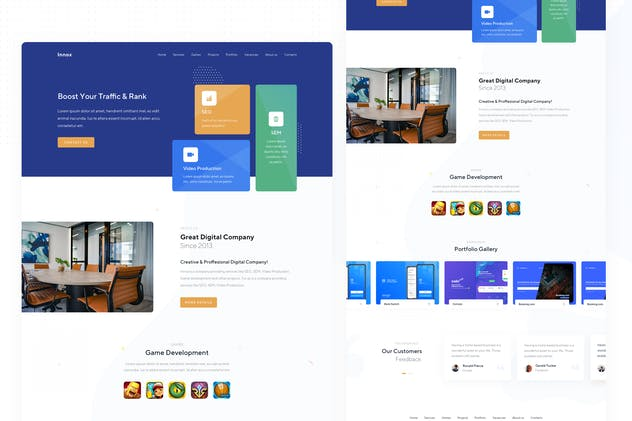 InnTex Digital Company in Sketch Template - product preview 0