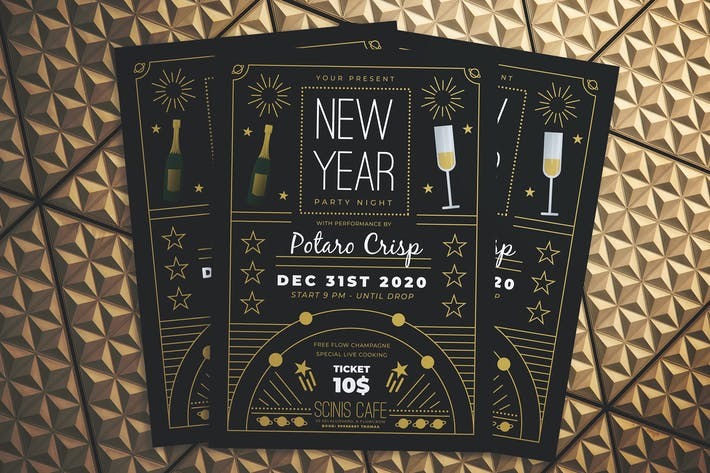 Thumbnail for New Year Party Night Flyer