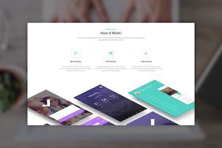 Metro App - Application PSD Template