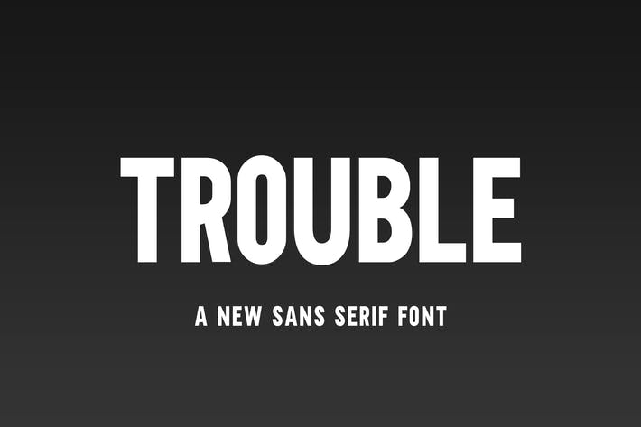 Thumbnail for Trouble Sans Font