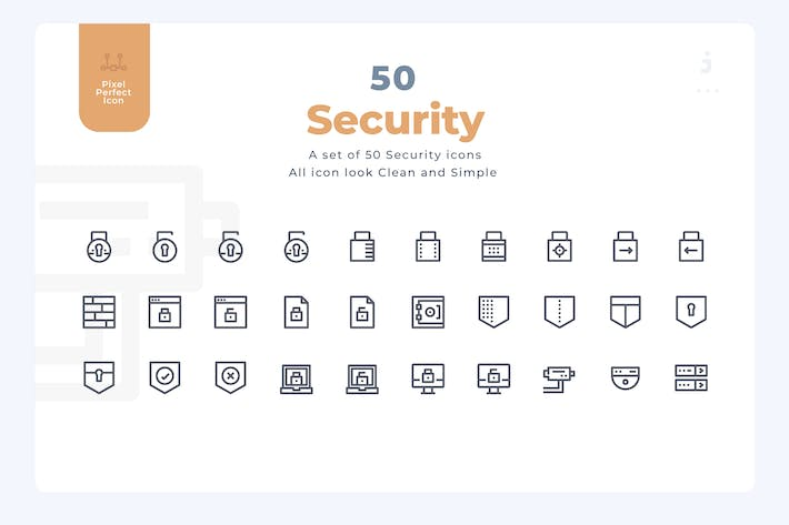 50 Security Icons - Material Icon