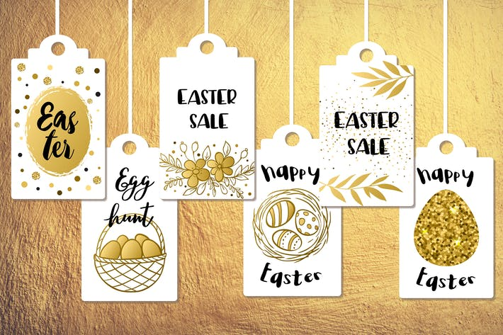Thumbnail for Golden Easter Sale Tags