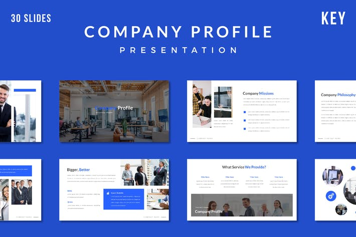 Thumbnail for Company Profile Presentation Template - (KEY)