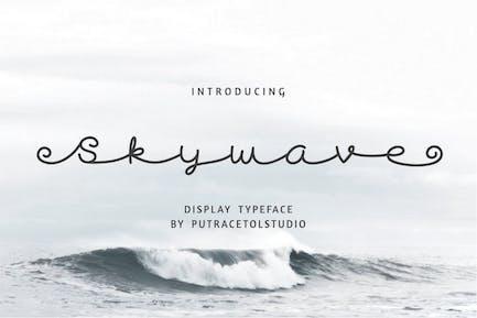 Skywave - Отображение курсивного шрифта