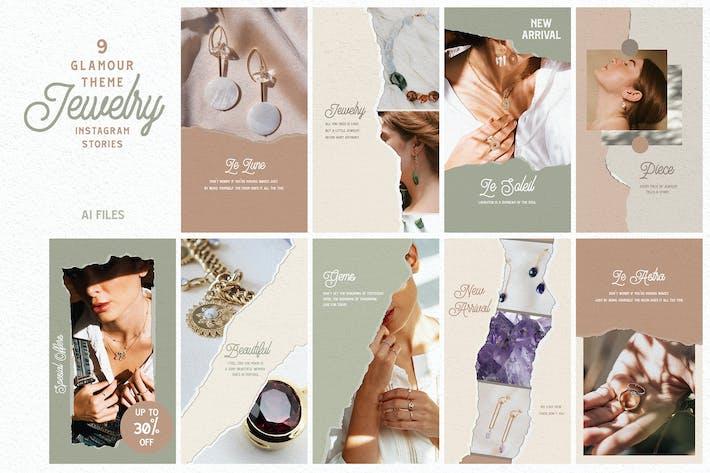 Glamour Theme - Jewelry Instagram Stories
