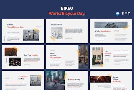 BIKEO - Шаблон Keynote Всемирного дня велосипеда