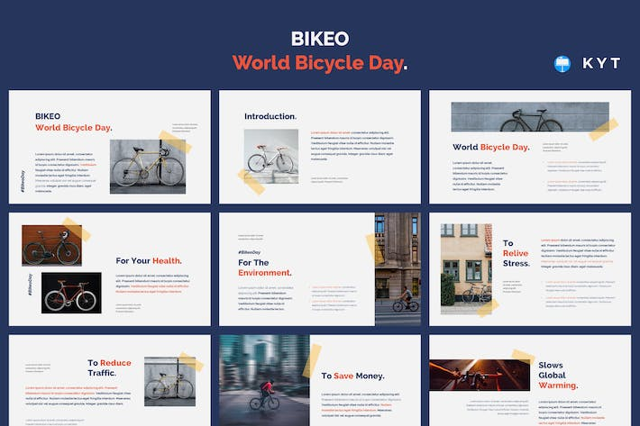 Thumbnail for BIKEO - World Bicycle Day Keynote Template