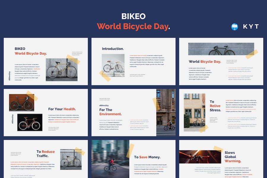 BIKEO - World Bicycle Day Keynote Template