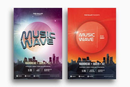 Music Wave - Duo Flyer