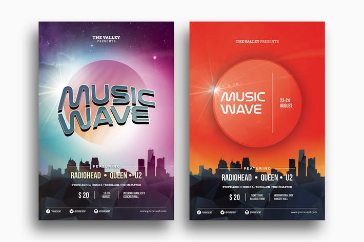 Thumbnail for Music Wave - Duo Flyer