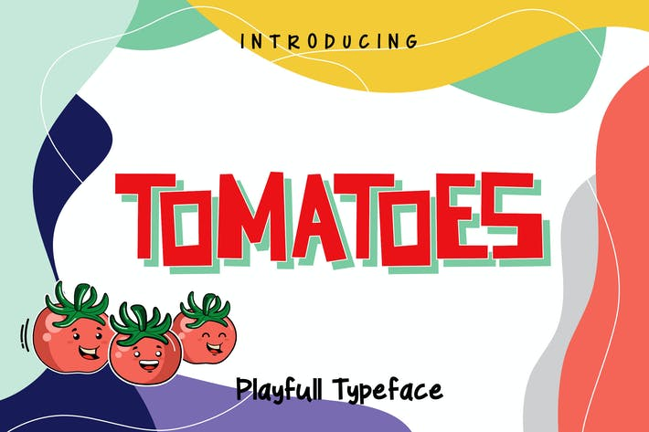Thumbnail for Tomatoes - Playful Typeface RS