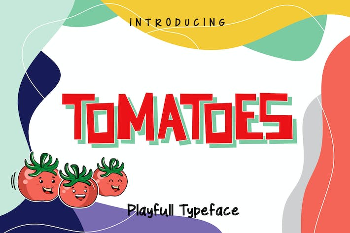 Thumbnail for Tomatoes - Playful Typeface