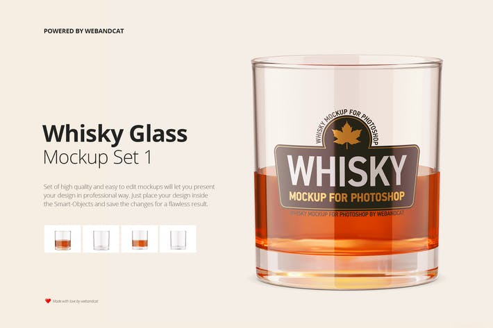 Thumbnail for Whiskey Glass Mockup