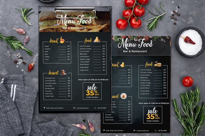 Thumbnail for Restaurant/ Fast Food - Menu Template