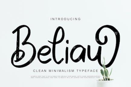 Beliau   Clean Minimalism Typeface