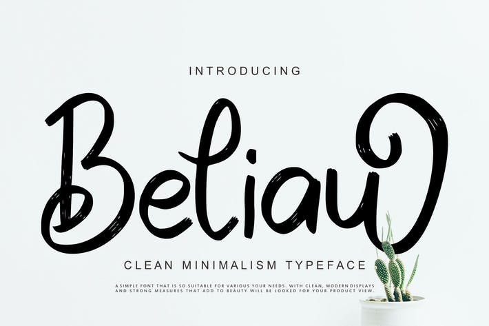 Cover Image For Beliau | Clean Minimalism Typeface