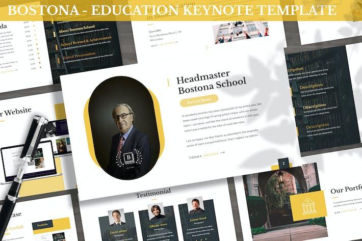 Thumbnail for Bostona - Education Keynote Template