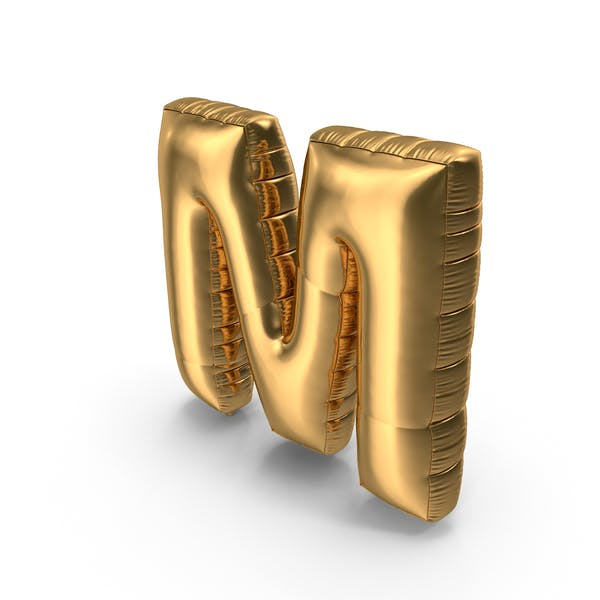 Thumbnail for Foil Balloon Letter M Gold