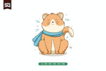 Cute Cat Illustration Design