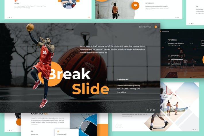 Шаблон Keynote Баскетбольного клуба