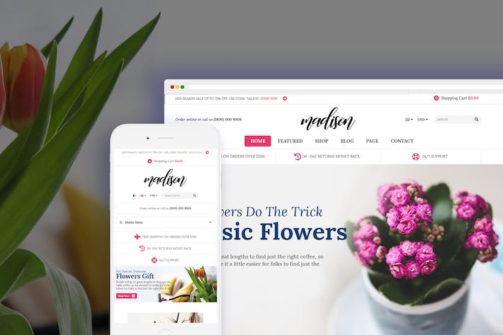 Thumbnail for Madison - Flores, Planta, Jardinería Shopify Tema