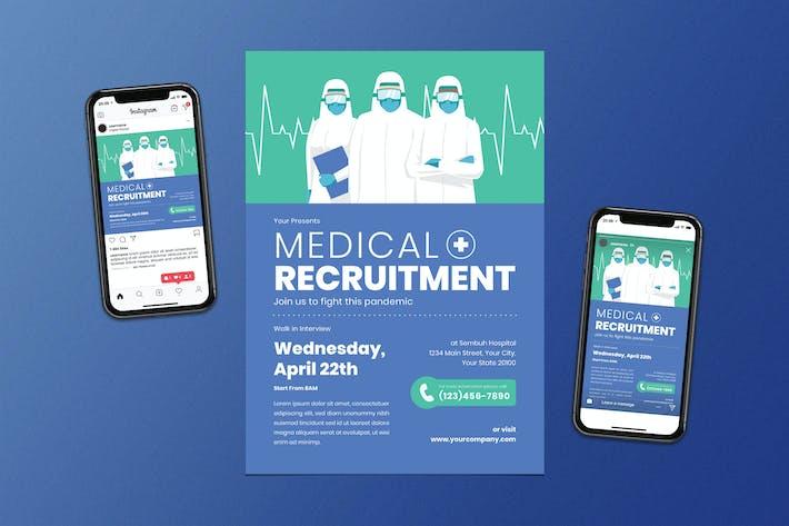 Thumbnail for Medical Recruitment Flyer Set