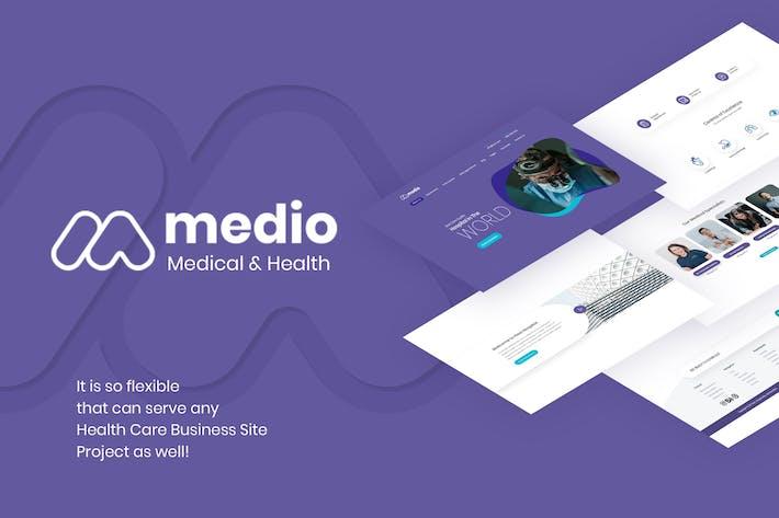 Cover Image For Medio - Medical Organization WordPress Theme