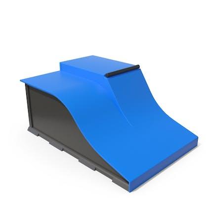 SkateBoard Rampe Blau