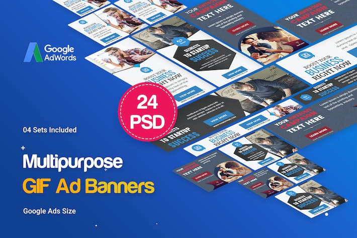 Thumbnail for Multipurpose, Business, Startup GIF Banners Ad