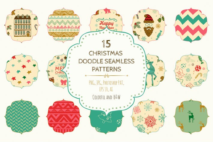 Thumbnail for 15 Christmas Seamless Patterns