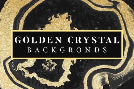 Golden Crystal Backgrounds