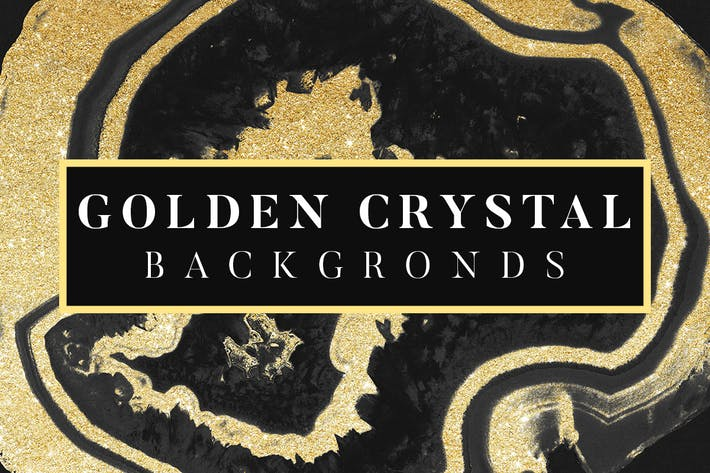 Thumbnail for Golden Crystal Backgrounds