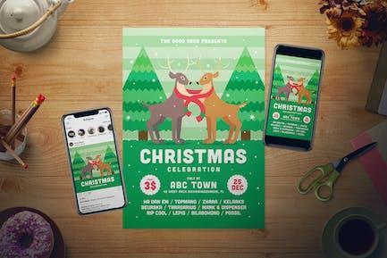 Christmas Event Flyer Set