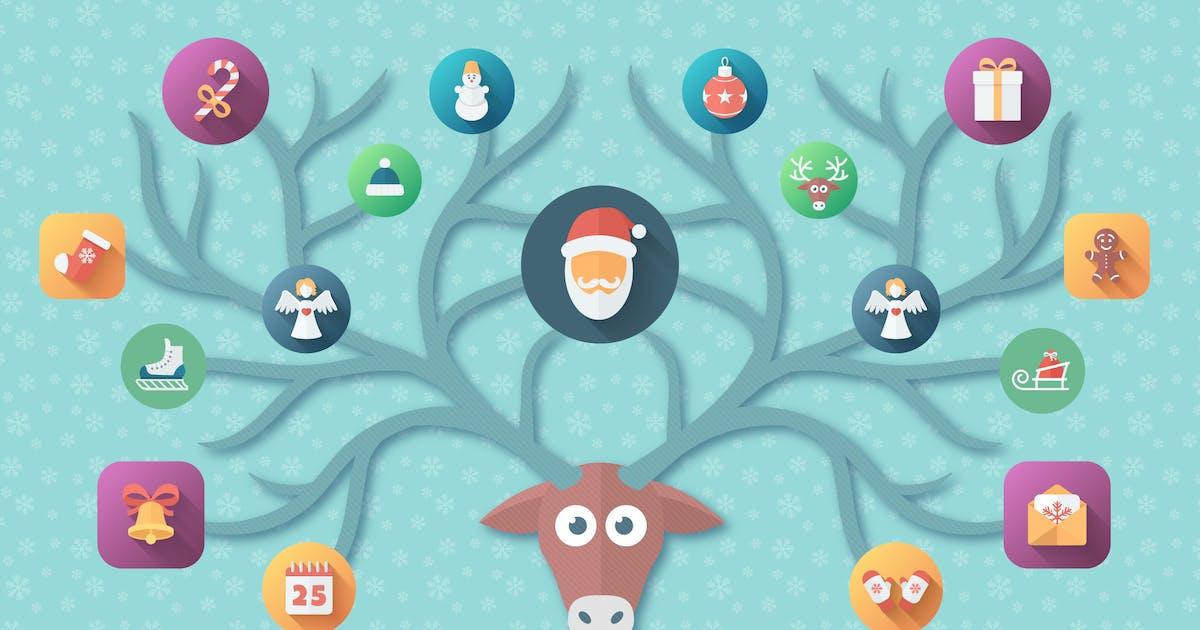 Download Christmas Flat Set | Vector Icons Bundle by MastakA