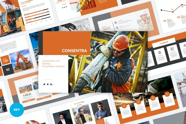 Cover Image For Consentra - Construction Keynote Template