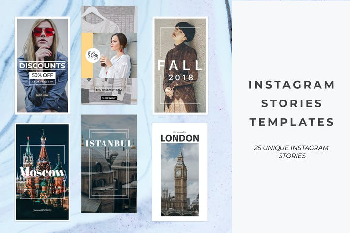 Cover Image For 25 Instagram Stories Templates