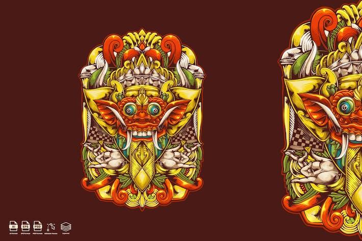Thumbnail for Баронг маска иллюстрация Логотип