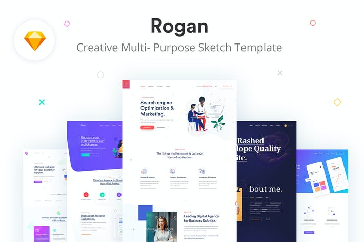 Thumbnail for Rogan - Creative Multi-Purpose Sketch Template