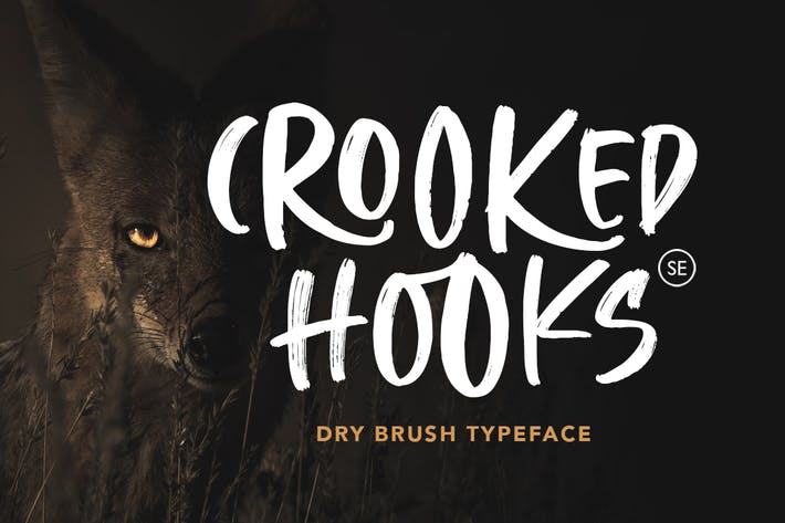 Thumbnail for Crooked Hooks - Dry Brush Font
