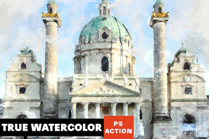 Thumbnail for True Watercolor Photoshop Action