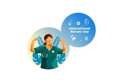 Starke Krankenschwester für Internationalen Krankenschwestern