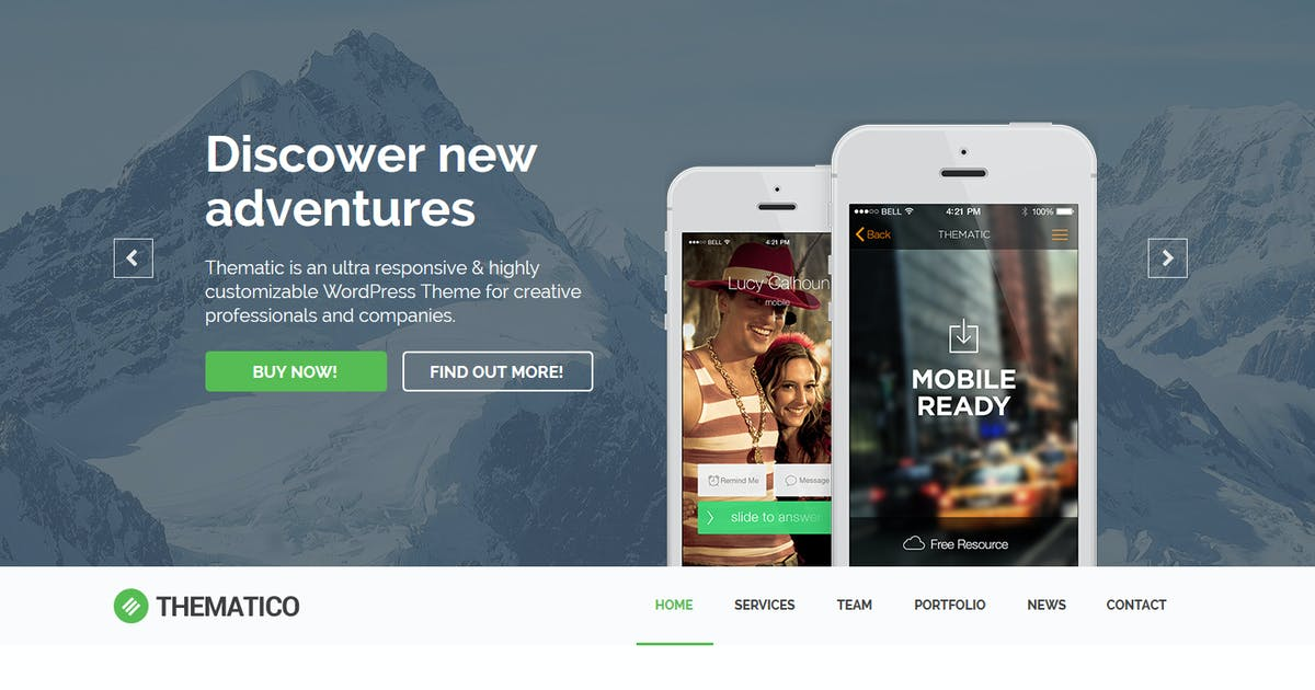 Download Thematico - One Page MUSE Template by Muse-Master