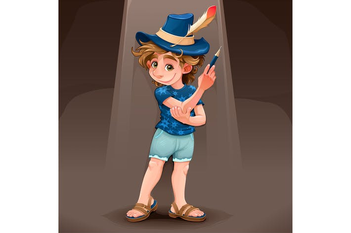 Thumbnail for Magician Child with Blue Hat